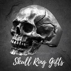 Men's Calvarium Skull Ring Gothic 316L Stainless Steel Biker Ring Motorcycle Band jewellery Mens Stainless Steel Rings, Gothic Rings, Biker Rings, Knights Templar, Diy Jewelry Making, Silver Man, Black Rings, Statement Rings, Fashion Rings