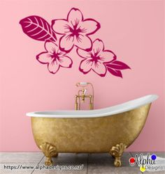 Customized decals Unique Presents, Wall Art Designs, Clawfoot Bathtub, Wedding Signs, Wall Decals, Personalized Gifts, Floral Prints, Modern, Art Walls