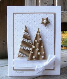 Homemade Christmas cards are the perfect gift for loved ones and of-course, you … Selbstgemachte Weihnachtskarten sind das perfekte Geschenk Christmas Cards To Make, Noel Christmas, Funny Christmas, Elegant Homemade Christmas Cards, Christmas Card Designs, Handmade Christmas Cards, Christmas Abbott, Elegant Christmas, Christmas Music