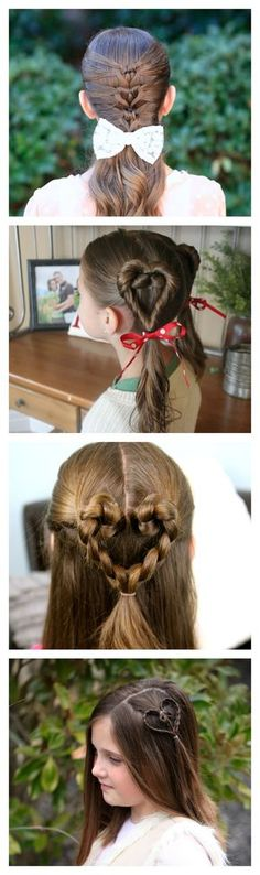 Easy heart hairstyles