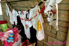 Onsie decorating baby shower idea