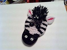 Zebra detail for Paper Quilling Custom order. Zoo theme (Hope's art) Tags: handmade zebra shadowbox custom quill filigree quilling paperquilling hopesart paperfiligree hopesartcreationsetsycom