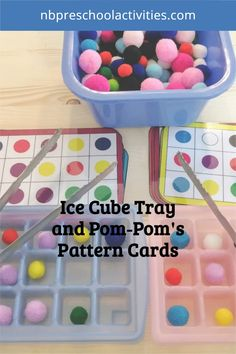 Ice Cube Tray and Pom-Pom's Pattern Cards