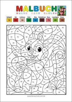 Rechnen und malen ZR 20 - Matheaufgaben für die 1. Klasse Mathematik ...