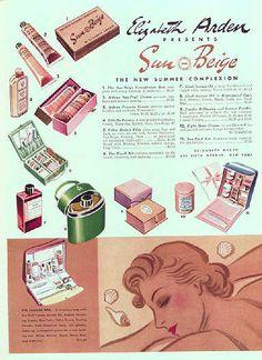 1937 Elizabeth Arden #vintage #cosmetics ad