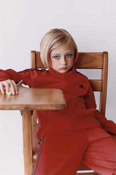 <p>Pep Squad editorial was published in Office Magazine, an independent biannual magazine based in New York. In his studio editorial James Robjant shot young girls with exaggerated make up on their fa