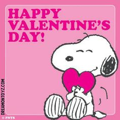 Happy Valentine's Day! MORE Cartoon & TV images http://cartoongraphics.blogspot.com/ And on Facebook https://www.facebook.com/dreamontoyz Snoopy hugging a pink heart <3 #Greeting #Holiday