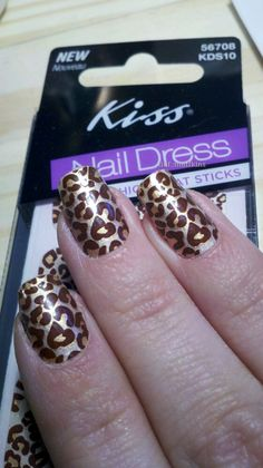Kiss Nail Dress    I got these in my Influenster.com Love VoxBox.  As you can see, they wrinkled a bit when I applied them.  I don't think these apply as nice as some of the other nail sticker type things I have used.  They also only come with a file, it would have been nice to get a smoothing stick like in the Sally Hansen to help improve the application.  I have really curved nails and these weren't quite stretchy enough to prevent wrinkles. Cute enough to wear for a few days though!
