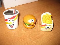 1990 Food Rollers from Burger King Kids Club Toy Lot of 3 loose - http://hobbies-toys.goshoppins.com/fast-food-cereal-premium-toys/1990-food-rollers-from-burger-king-kids-club-toy-lot-of-3-loose/
