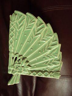 Vintage McCoy Pottery Fan Wall Pocket Planter | eBay