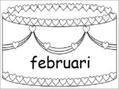 Verjaardagskalender (taart): februari
