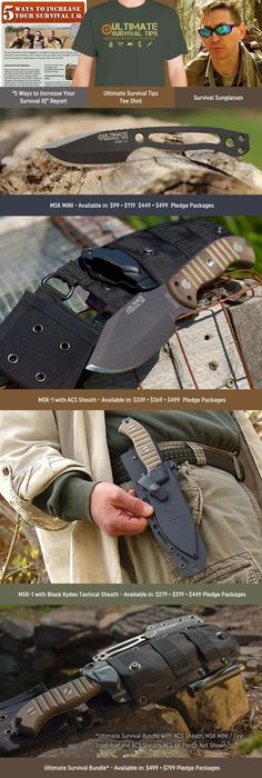 MSK-1: An Awesome Survival Knife, that Chops Like a Hatchet, Cuts Like a Fine Carving Tool, is Full of Surprises and Made in the USA #survivalknife