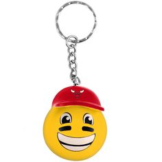 Chicago Bulls Eye Black Teamoji Keychain - $4.99