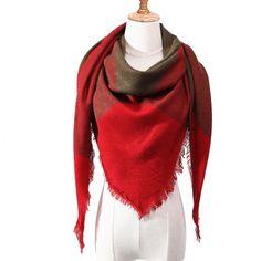 Designer 2018 new winter scarf for women shawls plaid ladies cashmere scarves pashmina echarpe neck warm Triangle bandana Pashmina Scarf, Plaid Scarf, Plaid Blanket, Cowl Scarf, Picnic Blanket, Tartan, Hijab Style, Cashmere Shawl, Cashmere Wool