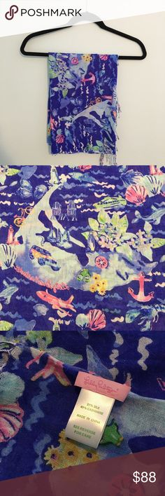 NWOT Lilly Pulitzer Nantucket Murfree Scarf This Lilly Pulitzer Nantucket Murfree Scarf is brand new without tags, and needs a home! It's made of 51% silk and 49% cashmere making it perfect for Summer nights.  As always, price is negotiable! Lilly Pulitzer Accessories Scarves & Wraps