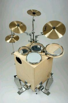 """Not a guitar, but I am rather intrigued by this """"GigPig"""". This may be good to have around the space-limited """"man cave studio"""" rather than electronic drums. Drum Music, Music Guitar, Cajon Drum, Diy Drums, Vintage Drums, Vintage Guitars, Drum Lessons, Cigar Box Guitar, Drum"""