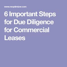 6 Important Steps for Due Diligence for Commercial Leases