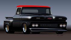Chevy pu.
