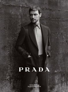 James McAvoy for Prada Fall 2014 Ad Campaign photographed by Annie Leibovitz.