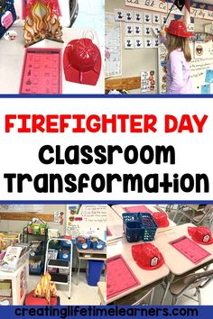 Check out this fun firefighter classroom transformation theme for elementary students in first, second, third, fourth, fifth grade. This fireman room transformation will set the stage to engage and is stress-free! It's a worksheet or escape room alternative, and can be used in small groups or partners. 1st, 2nd, 3rd, 4th, 5th graders enjoy classroom transformation ideas. Digital and printables for kids (Year 1,2,3,4,5) #setthestagetoengage #classroomtransformation #mathactivities