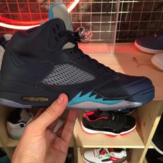 "Air Jordan 5 Retro Hornets – First Look- http://getmybuzzup.com/wp-content/uploads/2015/01/411344-thumb.jpg- http://getmybuzzup.com/air-jordan-5-retro-hornets/- By @KixandtheCity  Adding to the 2015 Air Jordan preview that we've looked at today, Jordan Brand is set to release the Air Jordan 5 Retro ""Hornets"" this year. Taking color cues from the Michael Jordan owned Charlotte Hornets franchise, the sneaker features a Midnight Navy...- #AirJordan5, #Sneaker"