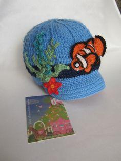 Crochet Boys Clownfish hat Crochet Baby Nemo hat by MILAVIKIDS, $27.50
