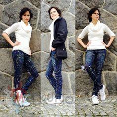 Cosma jeans - Merkurio by Petr Jáchym www.petrjachym.cz Fashion Shoes, Textiles, Jeans, Unique, Fabrics, Denim, Textile Art, Denim Pants, Denim Jeans