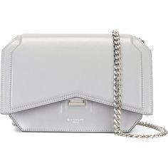 Givenchy Bow Cut cross body bag (512.695 HUF) via Polyvore featuring bags, handbags, shoulder bags, grey, givenchy purse, grey crossbody, grey purse, crossbody handbags and crossbody purses