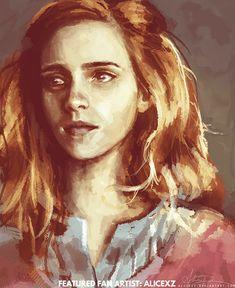 Harry Potter - Hermione Granger (Emma Watson) by Alice X. Fantasia Harry Potter, Arte Do Harry Potter, Harry Potter Fan Art, Harry Potter Fandom, Harry Potter Stories, Pulp Fiction, Fan Fiction, Hogwarts, Crayons Pastel