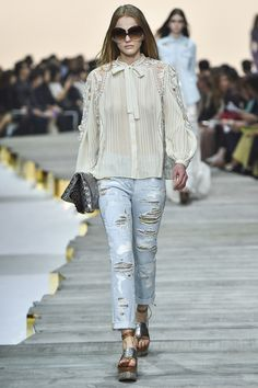 Roberto Cavalli Spring Summer 2015 - MFW - hot trend! distressed jeans