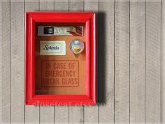 Coffee Lover Gift  In Case of Emergency  Splenda by ClosetCat, $22.00
