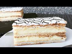 Prajitura napoleon cu crema de vanilie | Pastel milhojas con crema pastelera | Vanilla cream cake - YouTube Vanilla Cream, Vanilla Cake, Flan, Bacon Cake, Romanian Desserts, Cake Youtube, Cupcakes, Cream Cake, Napoleon