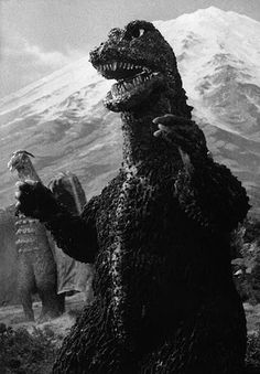 Godzilla once again comes to the defense of Earth with the help of Rodan. (Destroy All Monsters. 1968. Toho Pictures)