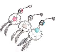 Check out these super cute dream catcher belly rings! Only $5.00 with a free shipping option! (:  TheVinylSeal.storenvy.com