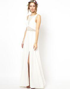 Jarlo Noah Maxi Dress with Sheer Lace Panels at asos.com 9bd0afa4583dc