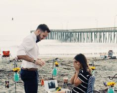 The most adorable beach engagement! #engagement #howheasked #love