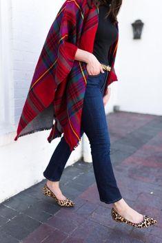 fall plaid outfit - red christmas plaid - plaid blanket scarf