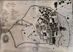 Plano de Almería (1600). Fuente: Ayuntamiento de Almería.