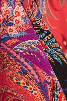 Etro - Paisley-print Silk Crepe De Chine Top - Coral - IT38