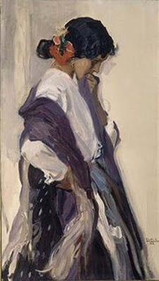 Joaquin Sorolla. Andaluza Más Traditional Paintings, Traditional Art, Claude Monet, Renoir, Figure Painting, Painting & Drawing, Muse Kunst, Frank Dicksee, Magritte