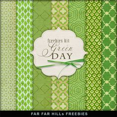 Far Far Hill - Free database of digital illustrations and papers: New Freebies Kit of Backgrounds - Green Day