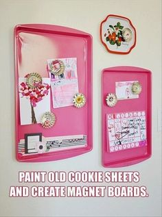 cookie sheets magnets Great especially since my fridge surface is not magnetic!