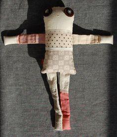 Les inséparables - Poppy 1 - poupée de chiffon aimantée - faite à la main à Montréal - 2014 - Anouk Kouri - vendue