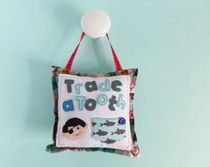 Tooth Fairy Pillow  pirate tooth fairy cushion  pirate gift Tooth Pillow, Tooth Fairy Pillow, Bedroom Door Handles, Pirate Face, Felt Gifts, Pirate Theme, Handmade Felt, Craft Business, Hand Stitching