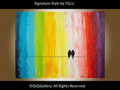 Valentine's Day Gift  Abstract Landscape Painting by QiQiGallery, $145.00...I think I could make this?