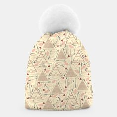 Triangle House-v2 Beanie, Live Heroes Triangle House, Cute Beanies, Unique Image, Stylish, Live