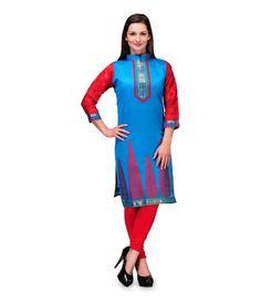 Loved it: Plume Blue Chanderi Banarasi kurti, http://www.snapdeal.com/product/plume-blue-chanderi-banarasi-kurti/649673309747