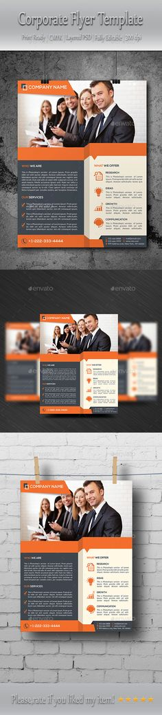 Corporate Flyer Template  Business Flyer  Business Flyers Flyer