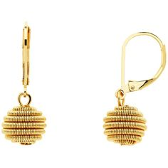 Monet Spiral Ball Hook Drop Earrings , Gold ($37) ❤ liked on Polyvore featuring jewelry, earrings, gold, gold jewellery, gold hook earrings, spiral earrings, hook earrings and yellow gold earrings