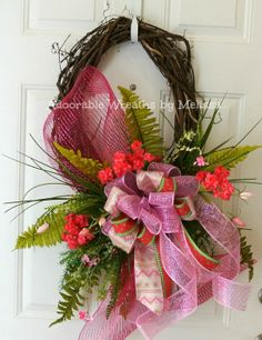 Spring Grapevine Wreath  Adoorable Wreaths by Melissa